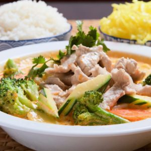 Wieprzowina Red Curry