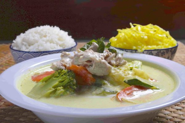 Wieprzowina Green Curry